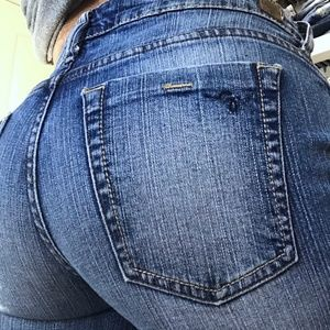 Guess Flare Low Rise Faded Denim Jeans 30 x 29
